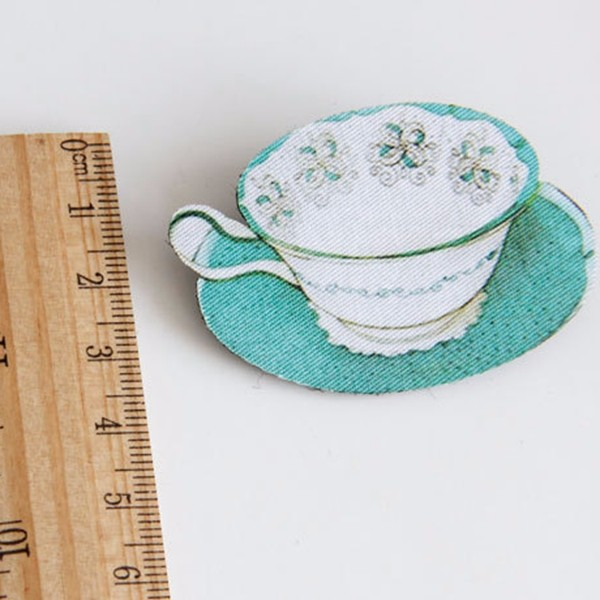 Vintage Casual Brooch Children Unisex Blue Cup Flower Brooch