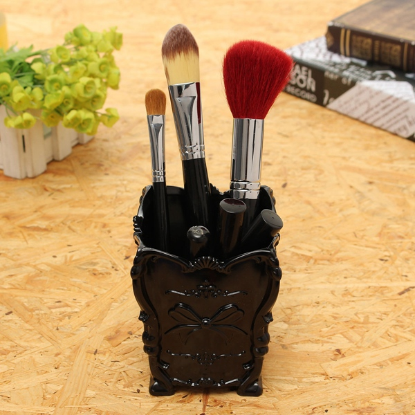 Butterfly Makeup Storage Case Brush Lip Stick Pen Holder Organizer Decorative Box Cosmetic Container