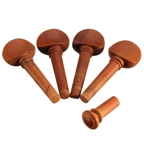 4/4 Jujube Wood Violin Part Fittings Tuning Peg Tailpiece Chinrest Endpin Tailgut