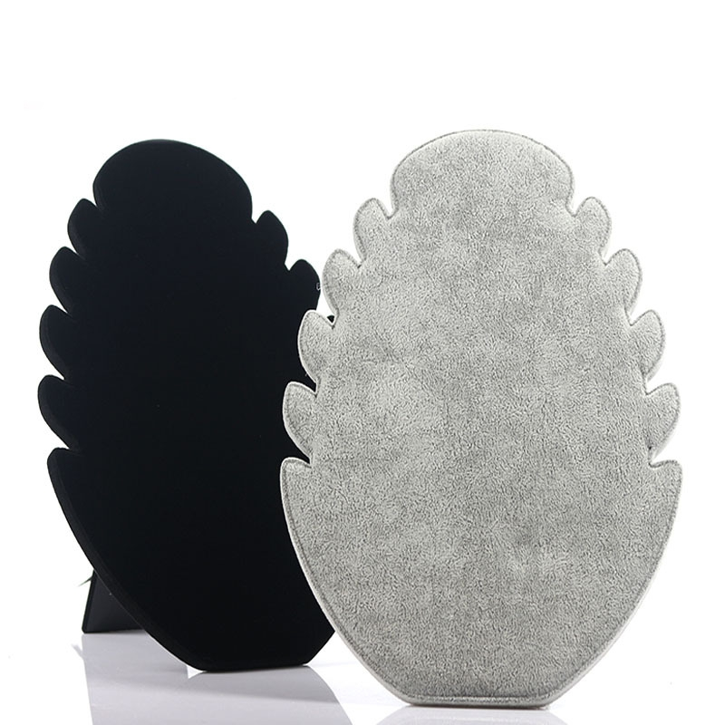 1Pc Gray/Black Ice Velvet Jewelry Display Stand Holder