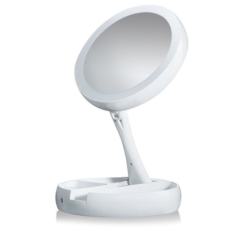 LED Double-sided Rotation Makeup Mirror