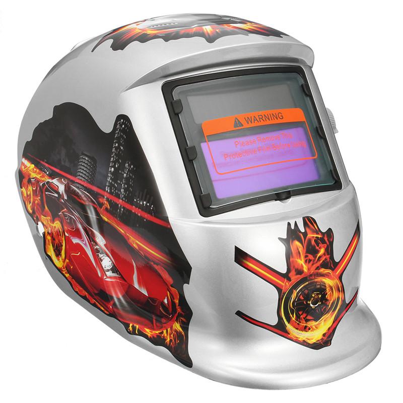 Flame Racing Pattern Solar Auto Darkening Welding Welders Helmet Tig Mask Grinding Welders Masks