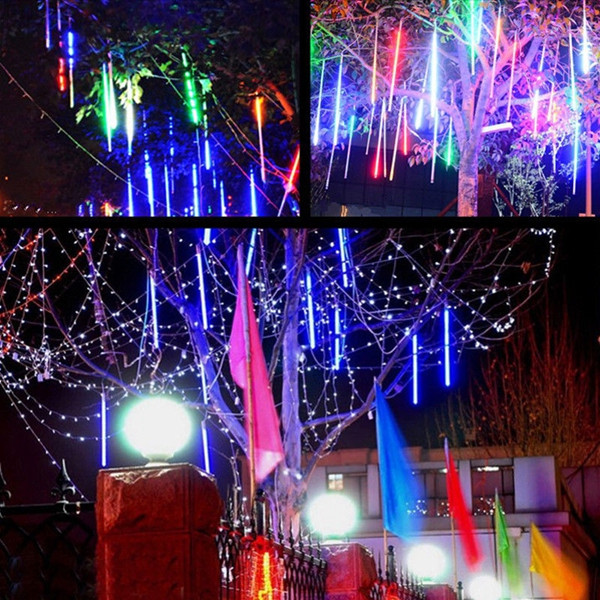 10 Tube 30CM LED Meteor Shower Rain Fall Outdoor Christmas Xmas String Tree Light
