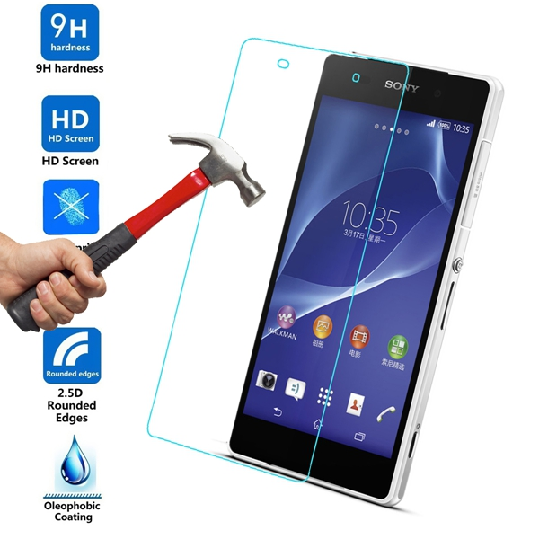 0.33mm Explosion Proof Tempered Glass Screen Protector For Sony Xperia Z2