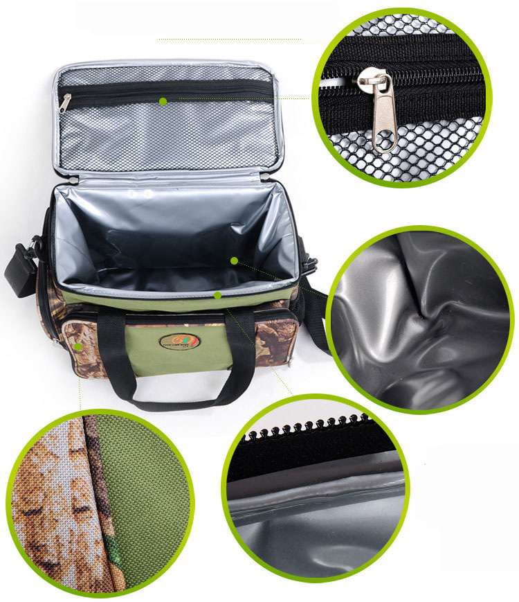 Camouflage Color Portable Refrigeration Insulation Lunch Bag Thermal Food Picnic Bags Travel Bags