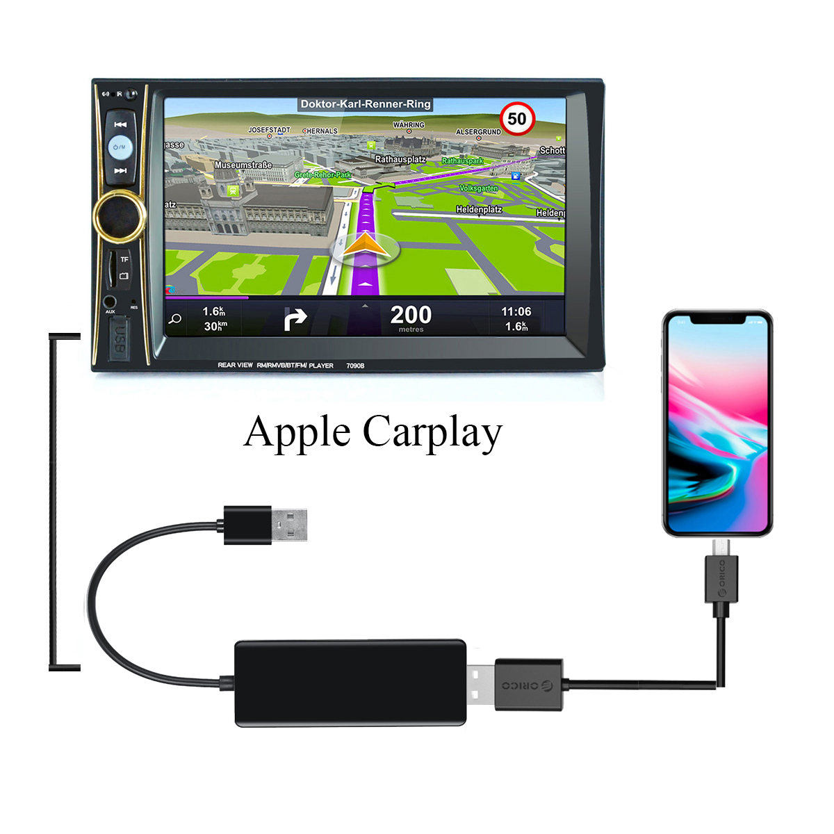 USB Android Navigation DVD Player Display Dongle Smart Link Dongle For Smart Mobile Phone