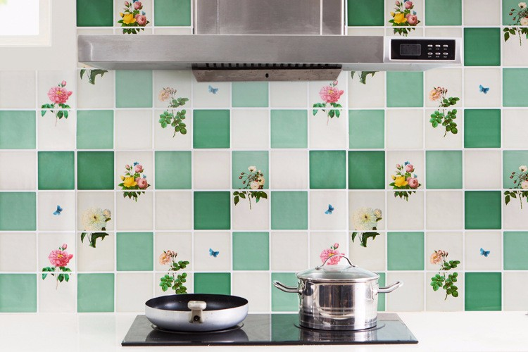 75*45cm Kitchen Self Adhesive Oil-proof Wall Sticker Aluminum Removable Waterproof Sticker Home Decor