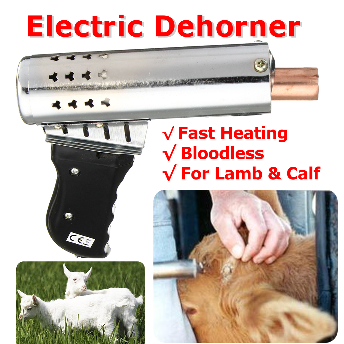220V 500W Electric Dehorner Cattle Head Dehorner Calf Chamfer Electric Iron Bloodless Calf Lamb