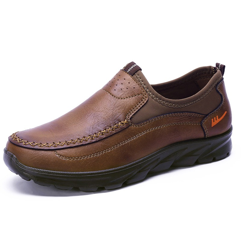 Men Soft Sole Leather Casual Oxfords