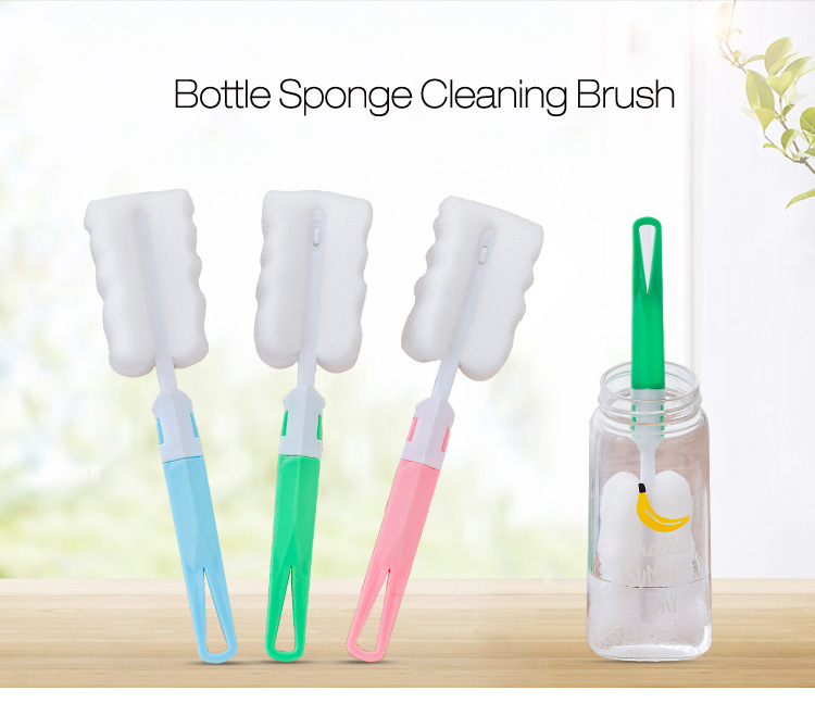 KCASA KC-CS02 Water Bottle Cup Mug Glass Sponge Cleaning Brush Washing Tool With Long Handle