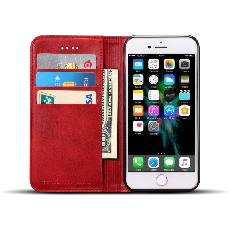 Bakeey Magnetic Flip Wallet Card Slot Case For iPhone 6s Plus/6 Plus 5.5