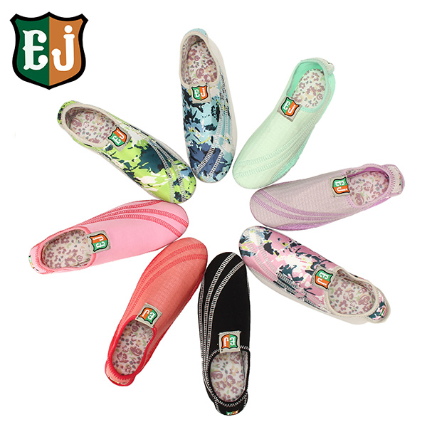 EJ Women Cotton Colorful Hook Loop Comfortable Yoga Ballet Dance Sport Casual Flat Home Shoes