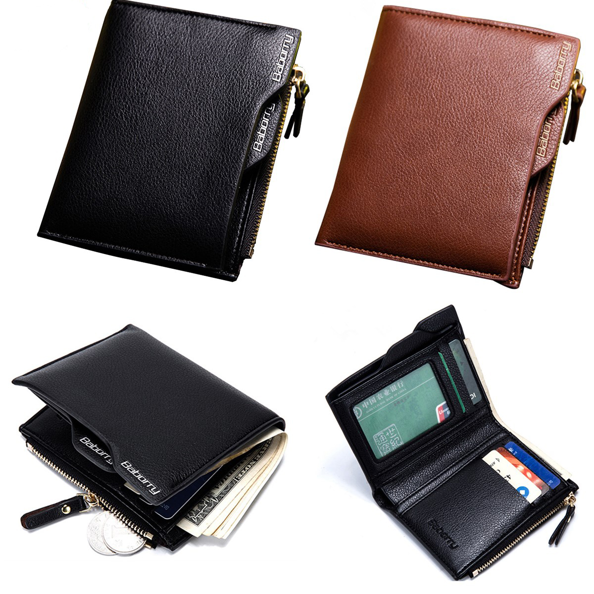 Specification: Material PU Leather Lining Polyester Color Black, Coffee Size 10 x 2 x 12cm/3.94 x 0.79 x 4.72inch Weight Approx.80g Features: Stylish and practical, easy to match different outfits. RFID blocking design, anti-theft and keep safe. It can ho #purse