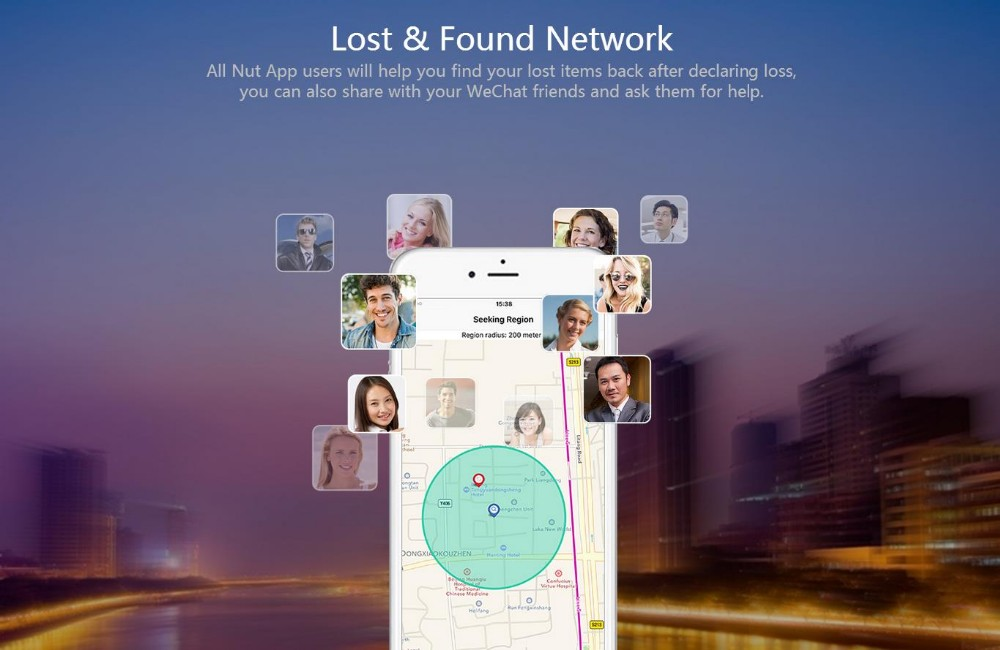 Wireless bluetooth Nut Find Lost& Found Network Smart Anti Lost Alarm for Android IOS Phone