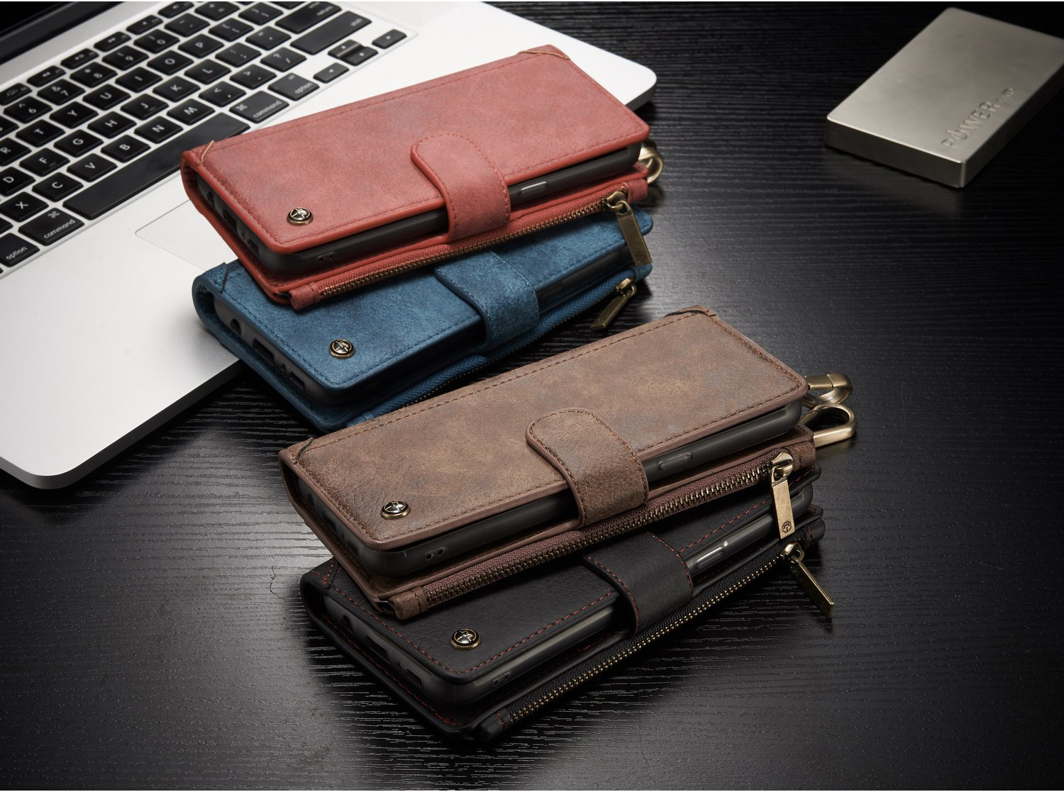 CaseMe PU Leather Multifunctional Detachable Zipper Wallet Hook Case For Samsung Galaxy S8 Plus