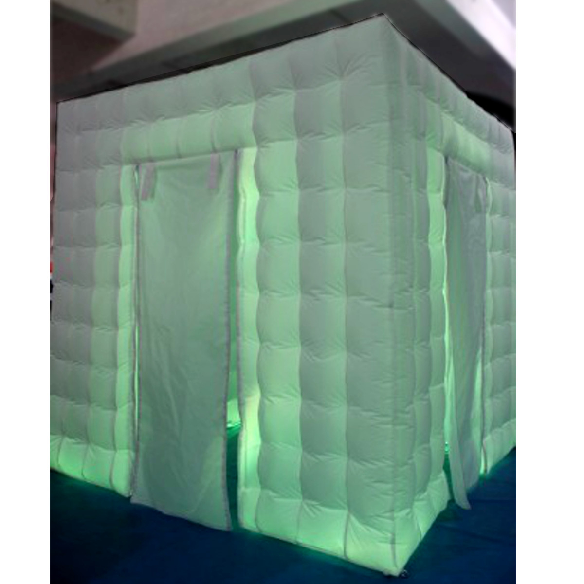 3M Inflatable LED Photo Booth Shooting Tent Single Triple Door Wedding Party with Remote Control