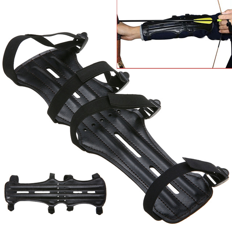 Archery Arrow Compound bow 4 Strap Shooting Target Arm Guards Protection For Hunting Shooting