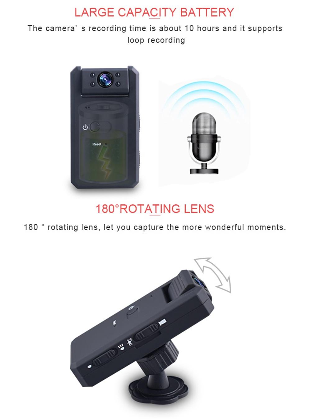 MD90 1080P Mini Camera Night Vision Camcorder Sport Outdoor DV Voice Video Recorder Camera