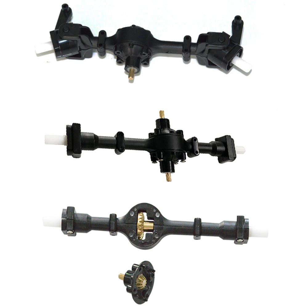 3PCS WPL B16 B36 1/16 2.4G 6WD Rc Car Upgrade Parts Metal Gear Front Rear Middle Bridge Axle