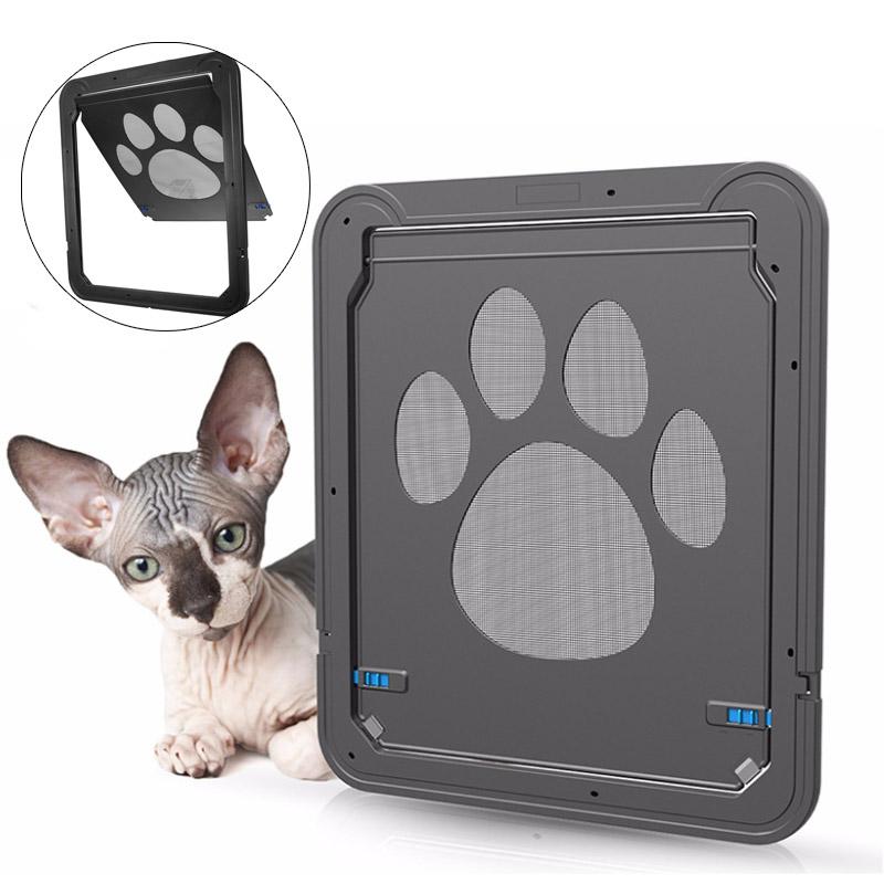 Image of 37x42cm Großer mittlerer Hund Katze Haustier-Tür-Schirm-Fenster ABS Magnetische Selbstverschluss-Klappen