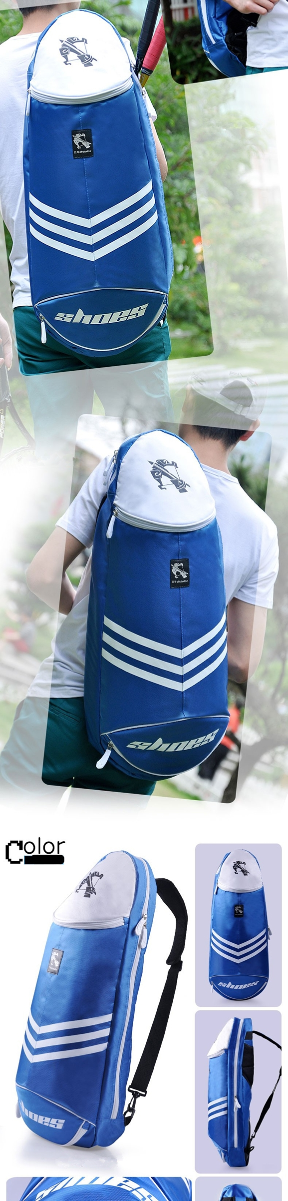 Sport Badminton Rackets Bag Single Shoulder Outdoor Multi-Purpose Light Tennis Bag