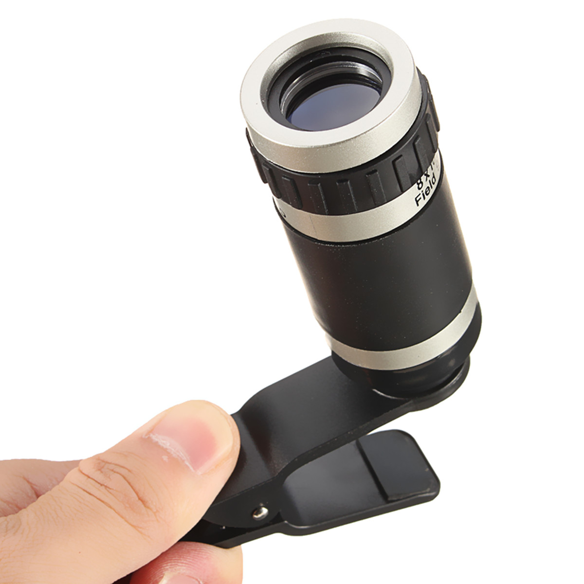 Universal 8 x18 HD Optical Zoom Lens Micro Telescope with Clip On for Mobile Phone Lens