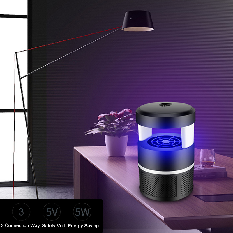 5W LED USB Mosquito Dispeller Repeller Mosquito Killer Lamp Bulb Electric Bug Insect Zapper Pest Trap Light For Yard Outdoor Camping