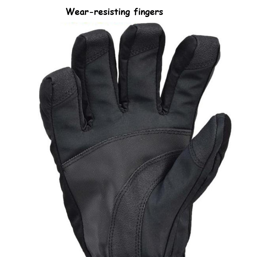 Men Mountain Ski Gloves Waterproof Warm Snowboard Motorcycle Winter Snowmobile Mittens