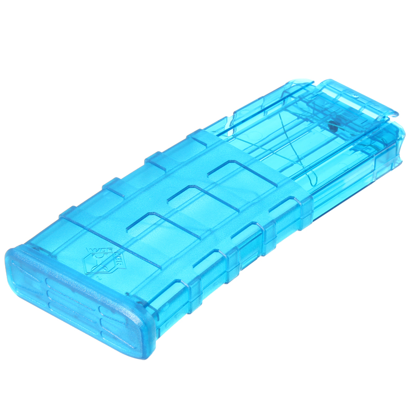 WORKER Mod ProphecyR 12 Darts Quick Reload Clip For Nerf N-Strike Blaster Blue Transparent Toys