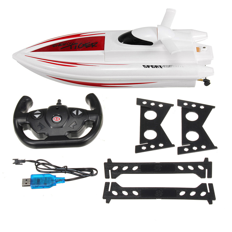 Energy Tiger Toys 301 1/16 2.4G Electric Dual Motor Racing RC Boat Kids Children Toys