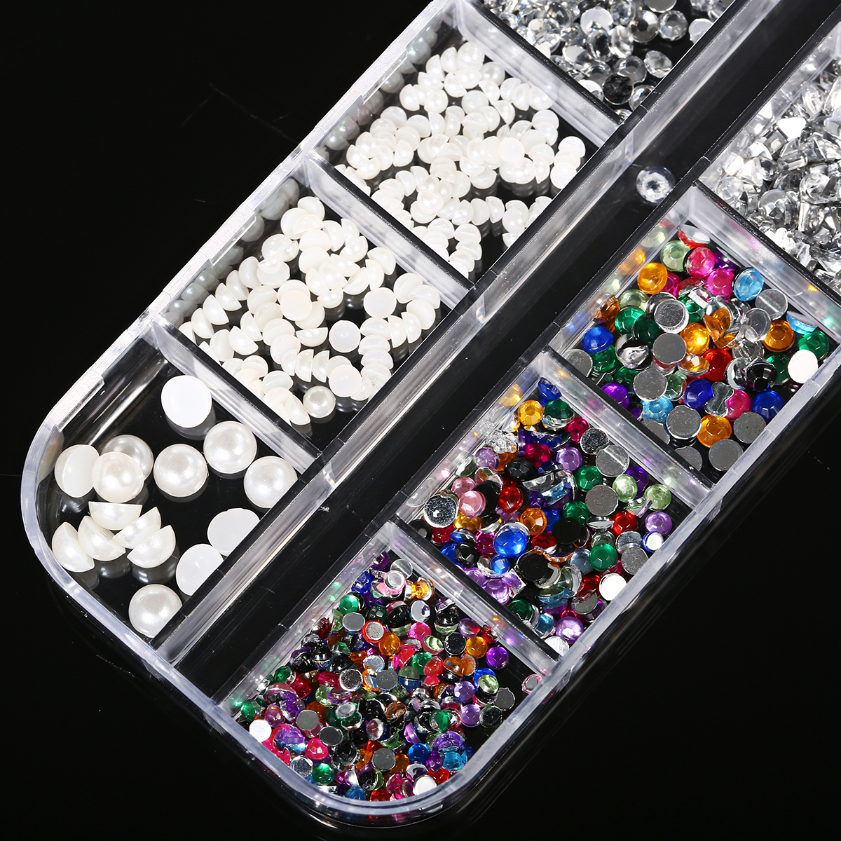 12 Grid Nail Art 3D Rhinestone Decoration
