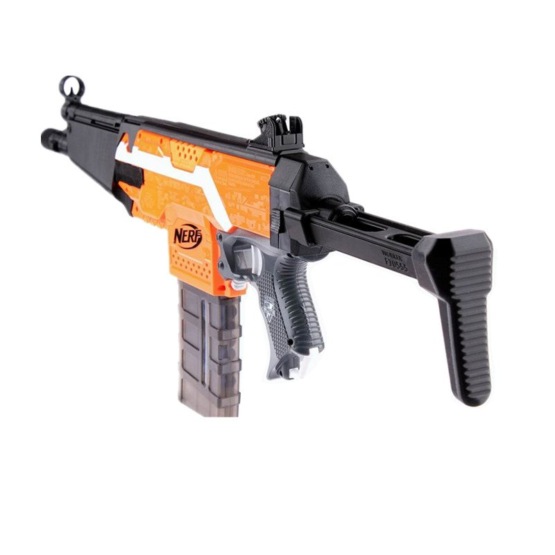 WORKER No.114 MP5 Tail Shoulder Stock Version A 3D Print For Nerf Stryfe Elite Retaliator Toy