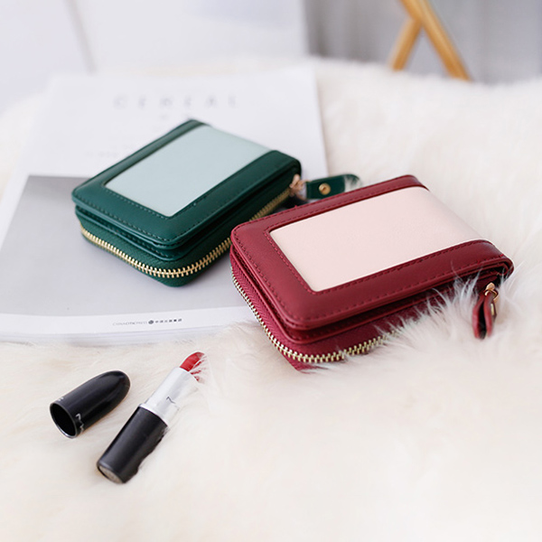 Personalized Leather Purses Large-capacity ID Card Holder