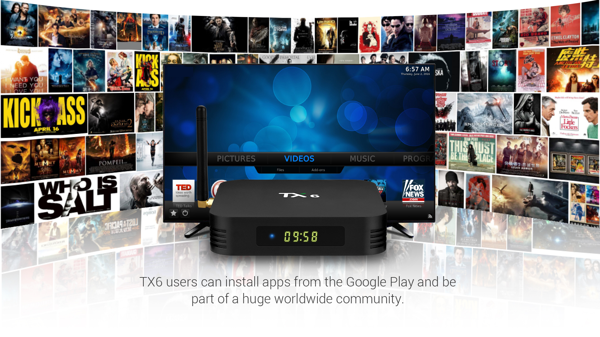 Tanix TX6 Allwinner H6 4GB RAM 32GB ROM 5G WIFI bluetooth 4.1 4K USB3.0 Android TV Box