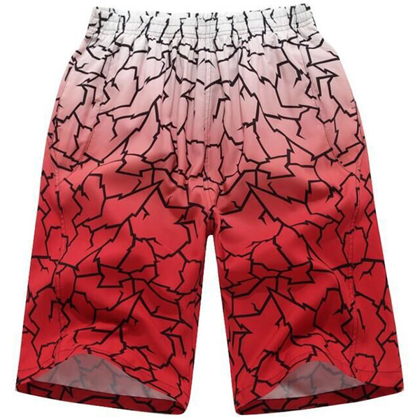 Summer Loose Casual Holiday Sports Printing Gradient Color Beach Shorts for Men