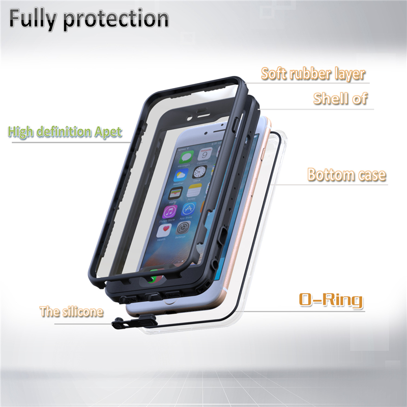IP68 Waterproof Touch Screen Case For iPhone 6 6S