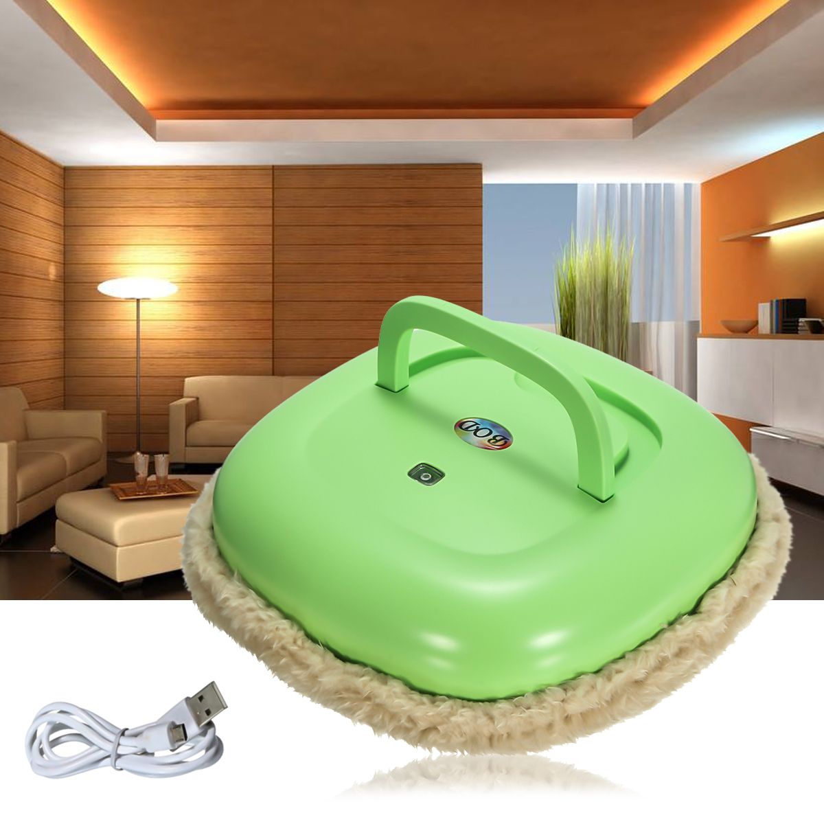 Washable Microfiber Mop Robot Vacuum Cleaner Household Cleaning Robot Wet or Dry Mop