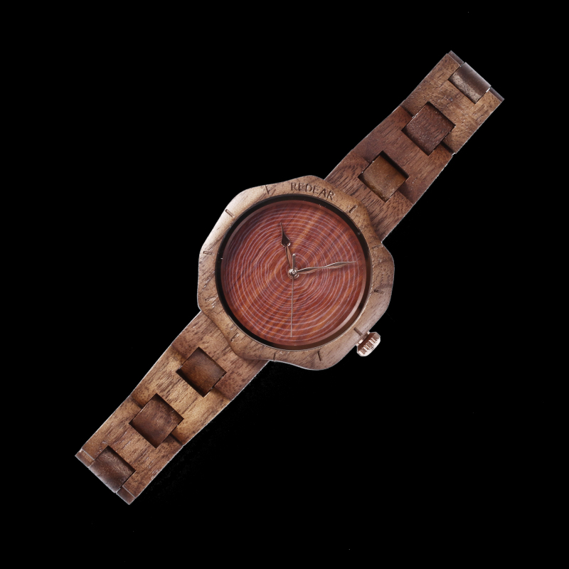 REDEAR SJ1644 Walnut Unique Design Women Wrist Watch