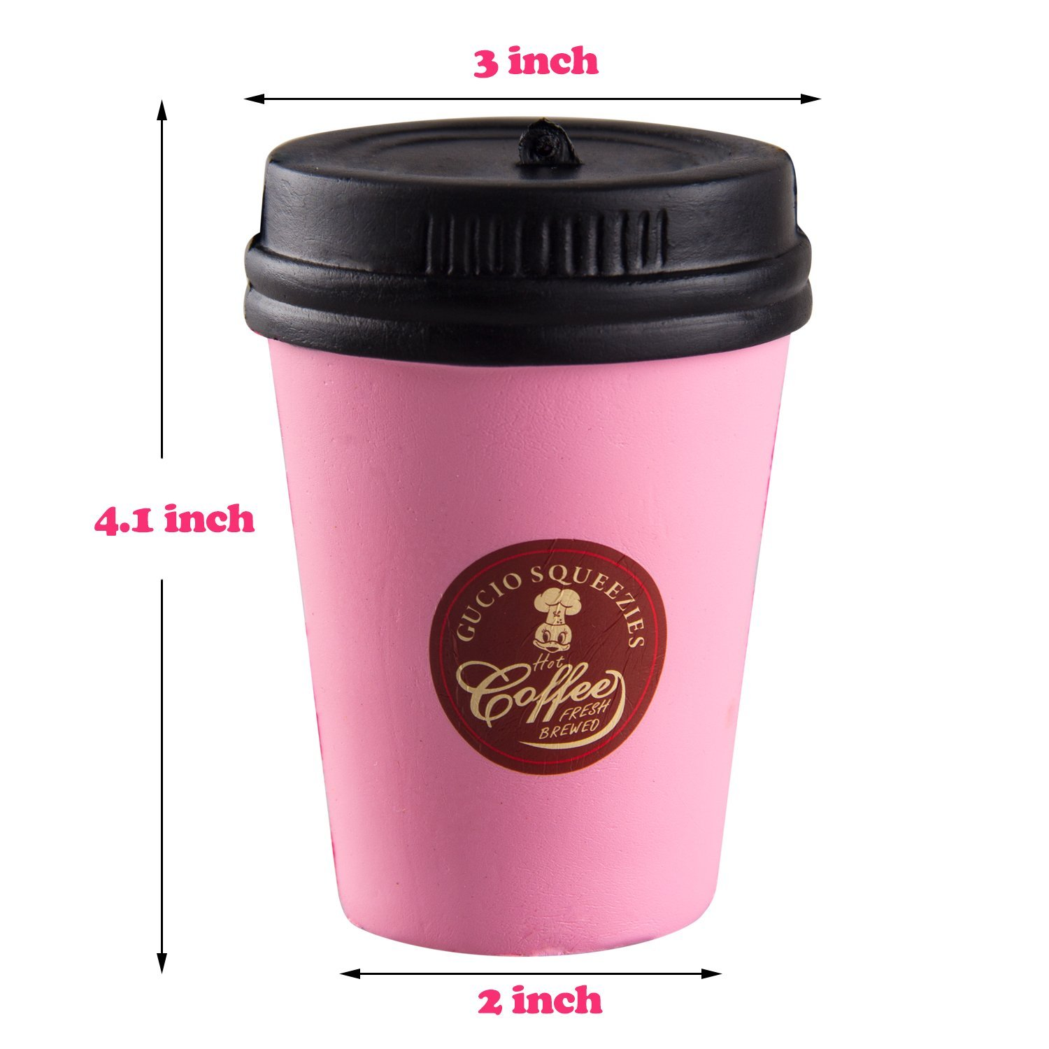 Coffee Cup Squishy Cartoon Milk Tea Drink Doll Chain Charm Slow Rising Kid Toy Gift Random Color