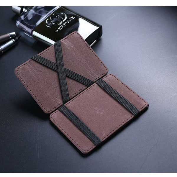 Leather Magic Wallets Men Money Clips Card Purse 2 Colors