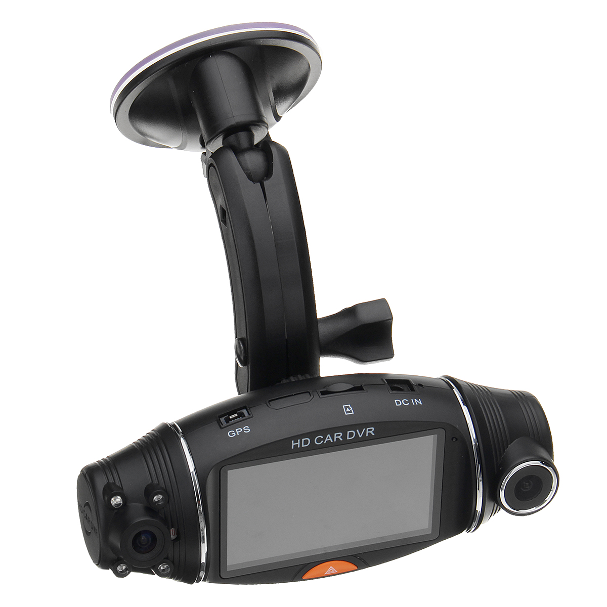 2.7 Inch 1080P Car HD Dual Camera Driving Recorder GPS Track Gravity Induction Kit