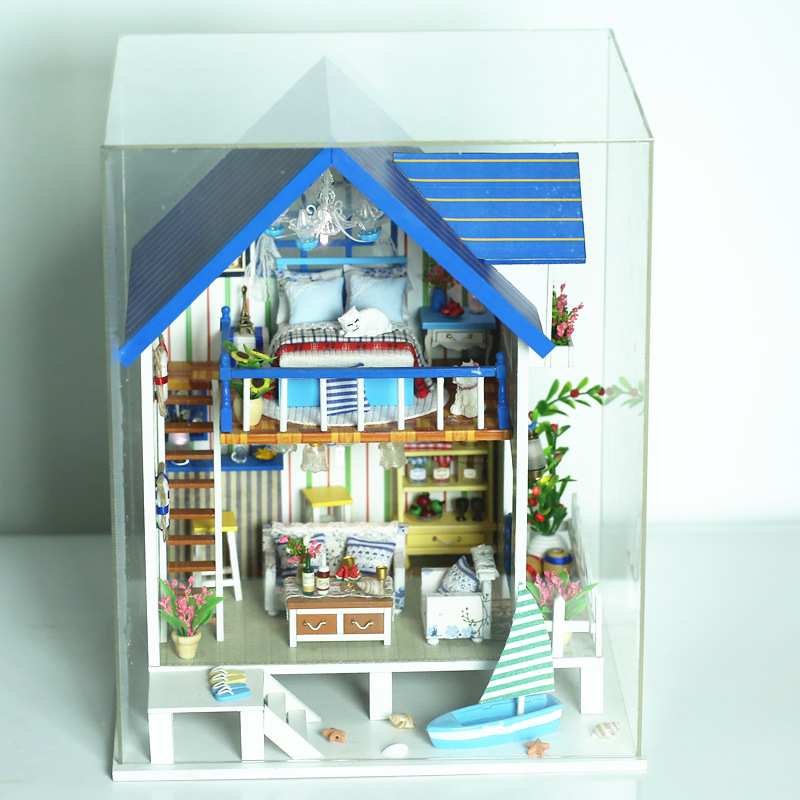 iiecreate 13018 The Harbour Of Venice DIY Dollhouse With Furniture Light Music Cover Miniature House
