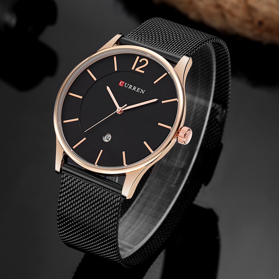 Купить CURREN 8231 Мужские часы Ультра тонкие простые роскошные мужские кварцевые наручные часы