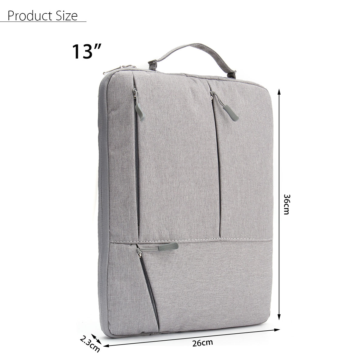 13 Inch Portable Laptop Sleeve Oxford Bag Protective Case Notebook Backpack