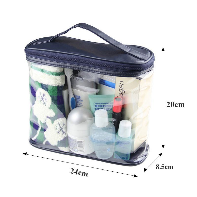 Travel Organizer PVC Makeup Bags Transparent Cosmetic Storage Bag Toiletry Bath Wash Makeup Box