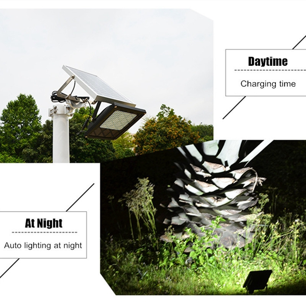 Solar Powered 12 LED Light Sensor Flood Lamp Outdoor Garden Waterproof Security