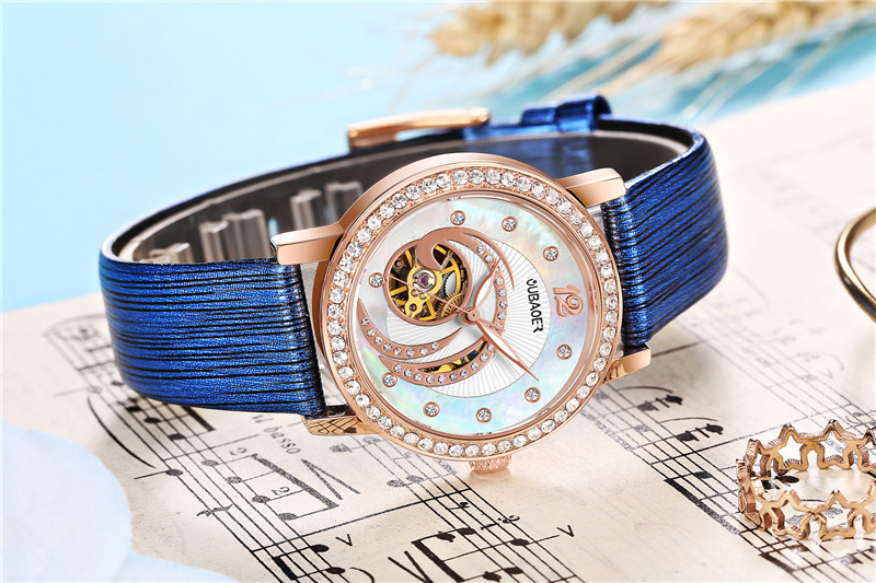 OUBAOER OB2005A Crystal Ladies Automatic Mechanical Watch