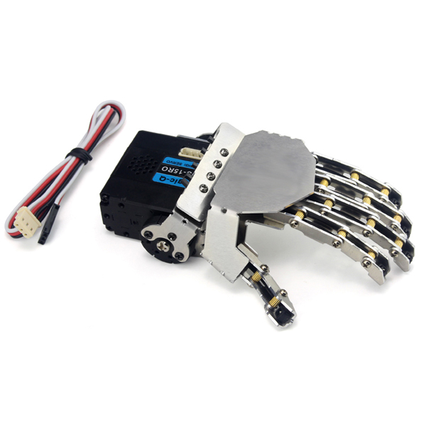 DIY QDS-1503 Robot Arm Smart Metal Hand Manipulative Finger Kit for Robot