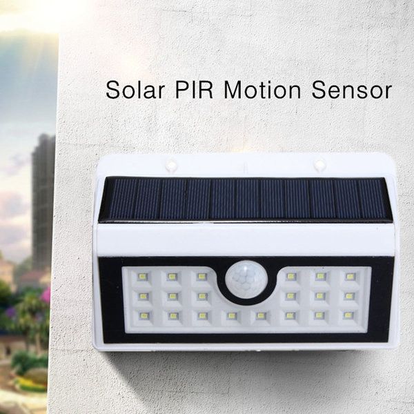 Solar Powered PIR Motion Sensor 20 LED Wall Light Outdoor Garden Security Lamp