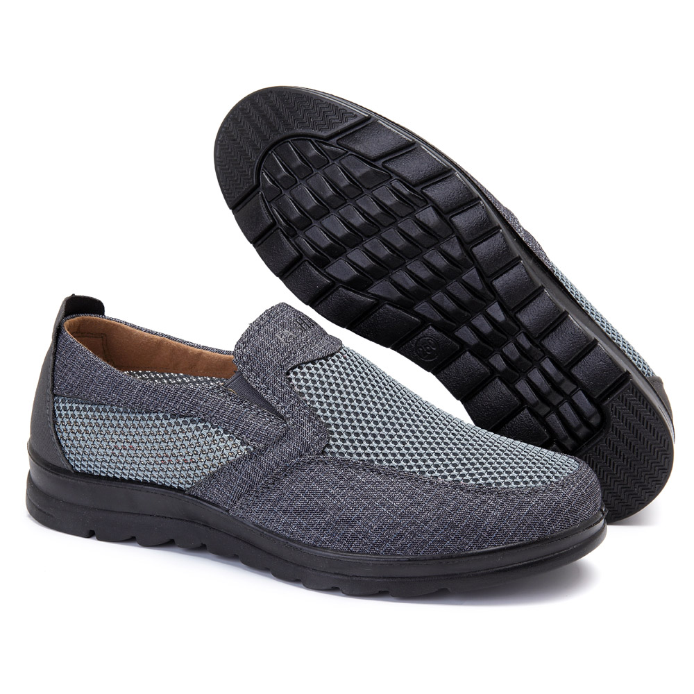 Men Breathable Soft Mesh Flat Oxfords Casual Slip On Shoes